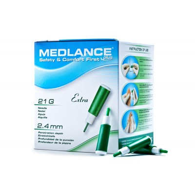 Ланцет автоматический медицинский Medlance Plus Extra (Медланс Плюс Экстра) №200