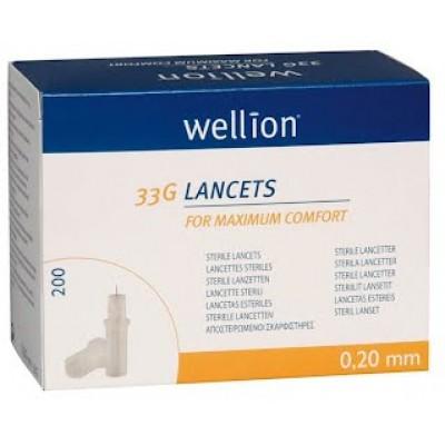 Ланцеты Wellion 33G №200 (200 шт.)
