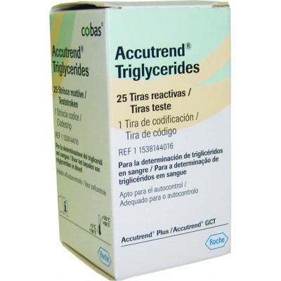 Тест-полоски Accutrend Триглицериды, 25 шт.