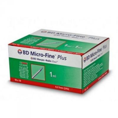 Шприц инсулиновый Микро Файн плюс 1 мл U-40