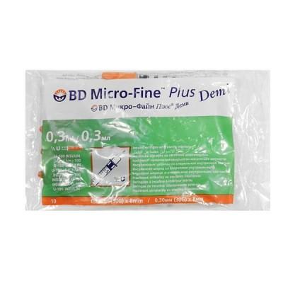 Шприцы bd micro fine plus demi 0,30 мл