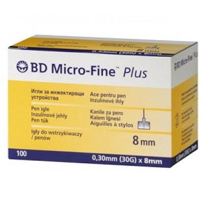 Иглы BD Micro-Fine Plus 8 mm